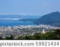 Overlooking Mt. Takasaki and Beppu city area 59921434