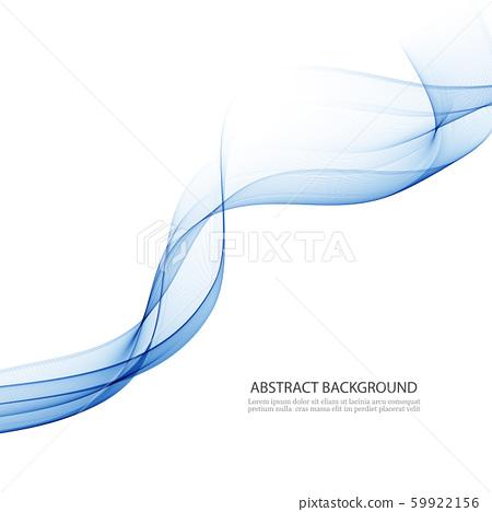 Abstract vector background, transparent waved lines for brochure, website, flyer design. Blue smoke 59922156