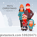Happy family, mother, father and children 59926471