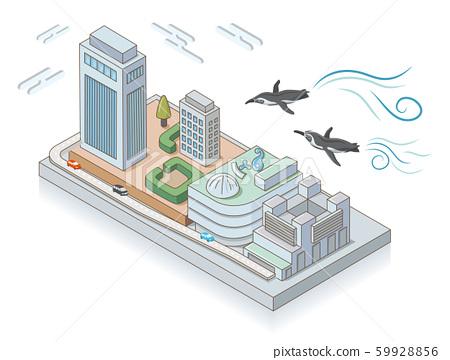 池袋陽光城和飛企鵝。等軸圖 59928856