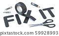 Slogan FIX IT with black duct tape 3D 59928993
