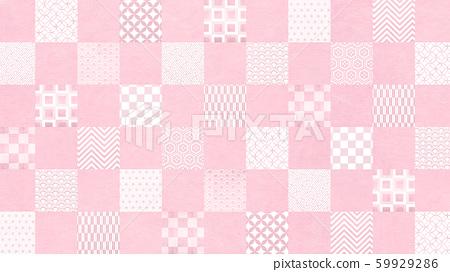 배경 - 일본 - 일본식 - 일본식 디자인 - 종이 - 패턴 - 체크 무늬 - 핑크 59929286