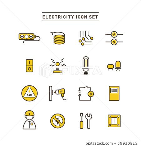 電力 電 圖標 59930815