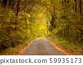 ต้นไม้ในฤดูใบไม้ร่วงเส้นทางเล็ก ๆ ในป่า 59935173
