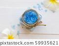 blue bath salt herbal beauty health care body skin for a bath  59935621