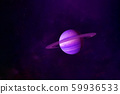 Saturn planet in pink color. Elements of this 59936533
