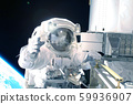 Astronaut at the space station is engaged in 59936907