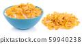 Corn flakes isolated on white background 59940238