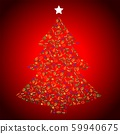 Vegan Christmas and healthy eating with fruit and vegetables icons in a christmas tree. 59940675