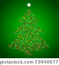 Vegan Christmas and healthy eating with fruit and vegetables icons in a christmas tree. 59940677