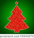 Vegan Christmas and healthy eating with fruit and vegetables icons in a christmas tree. 59940679