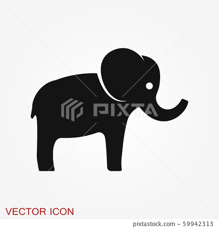 elephant icon vector logo line art illustration stock illustration 59942313 pixta pixta