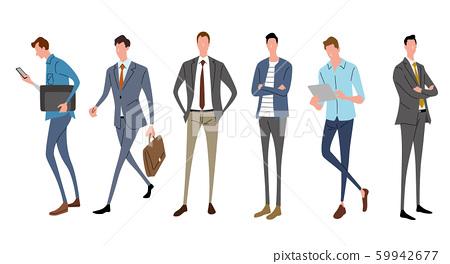 일러스트 소재 : 비지니스, 남성 패션 59942677