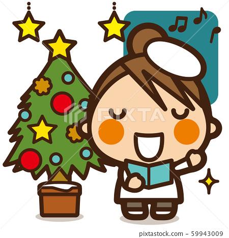 학교 Kids 크리스마스 여자 성가대 59943009