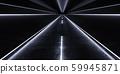 Dark and eerie urban highway at night low key blue light 3d render illustration 59945871