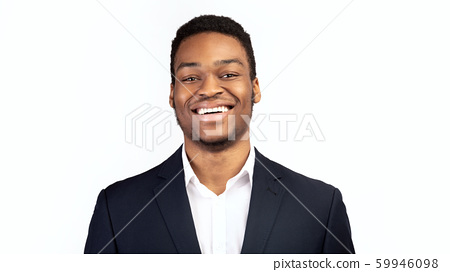 Young smiling black guy over white background 59946098