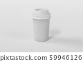 White Take-out coffee in thermo cup. Isolated on a white background 3d render illustration 59946126
