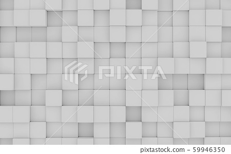 abstact white modern architecture background with white cubes 3d illustration render birds eye view 59946350