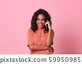 Happy smiling beautiful african woman  59950985