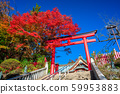 Autumn leaves of Takaoyama Yakuoin in Tokyo 59953883