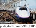 The Joetsu Shinkansen Tokiwa going over the elevated section 59953985
