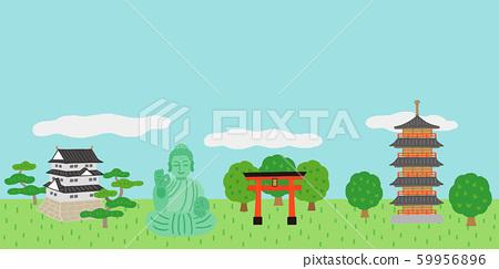 Japanese building landscape 59956896