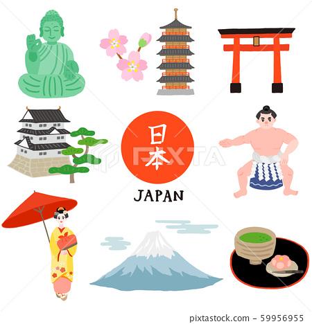 受日本启发的建筑物和人物 59956955