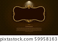 gold frame circle border picture and pattern gold 59958163