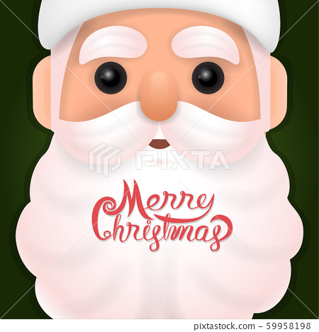 Funny happy Santa Claus character on background. 59958198