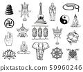 Buddhism religion symbol, Buddha, ying yang, lotus 59960246
