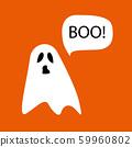 Ghost icon cute cartoon character,  halloween logo 59960802