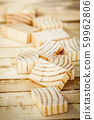 pieces of wood on the boards background 59962806