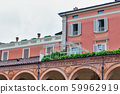 Old residential architecture in Bologna, Italy. 59962919
