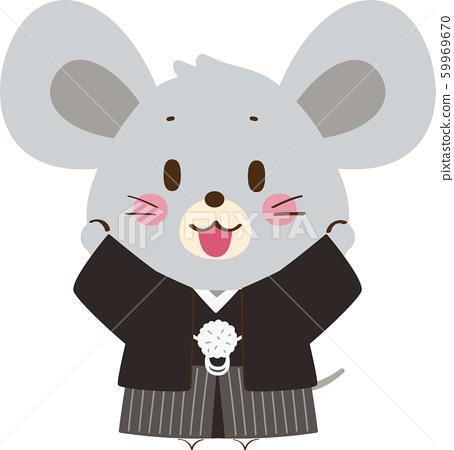 一隻老鼠穿了一個奧利糖果 59969670