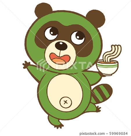 綠色浣熊控股烏冬面 59969884
