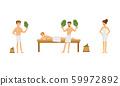 People Characters Wearing Towels Enjoying Sauna Procedures Vector Illustrations 59972892