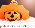 Pumpkin Jack orange color with hat on head this 59973613