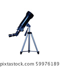 Realistic telescope on a tripod. 59976189
