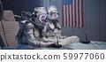 Astronauts talking at pre-flight press conference 59977060
