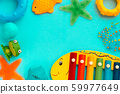 Top view on children's educational and music 59977649