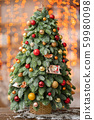 Beautiful Christmas tree. Preparation for holidays concept. Flower shop is a work of a professional 59980098