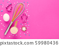 baking protein, fitness diet concept, pink background with copy space 59980436
