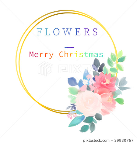 優雅美麗的水彩玫瑰花花卉花束 59980767