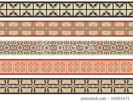 Seamless decorative borders 59985471