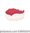 Tako Octopus Sushi Nigiri Japanese Food Vector 59985834