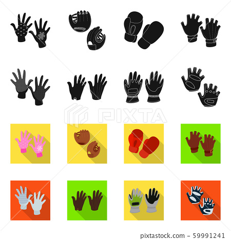Isolated object of silhouette and safety sign. Collection of silhouette and comfort stock vector illustration. 59991241
