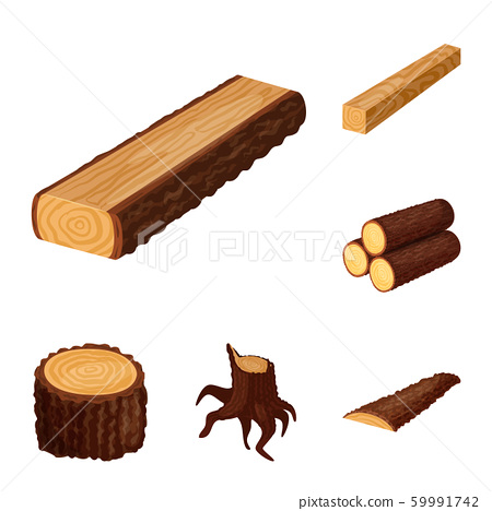 Vector illustration of signboard and wood icon. Set of signboard and wooden stock vector illustration. 59991742