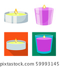 Vector design of relaxation and flame icon. Set of relaxation and wax stock vector illustration. 59993145