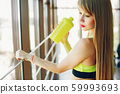 Fitness girl in a gym 59993693