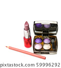 Set of decorative cosmetics isolated on a white 59996292